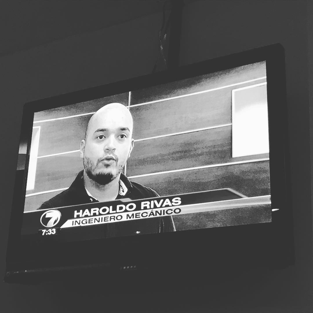 Today in the night news cast teletica7   hellip