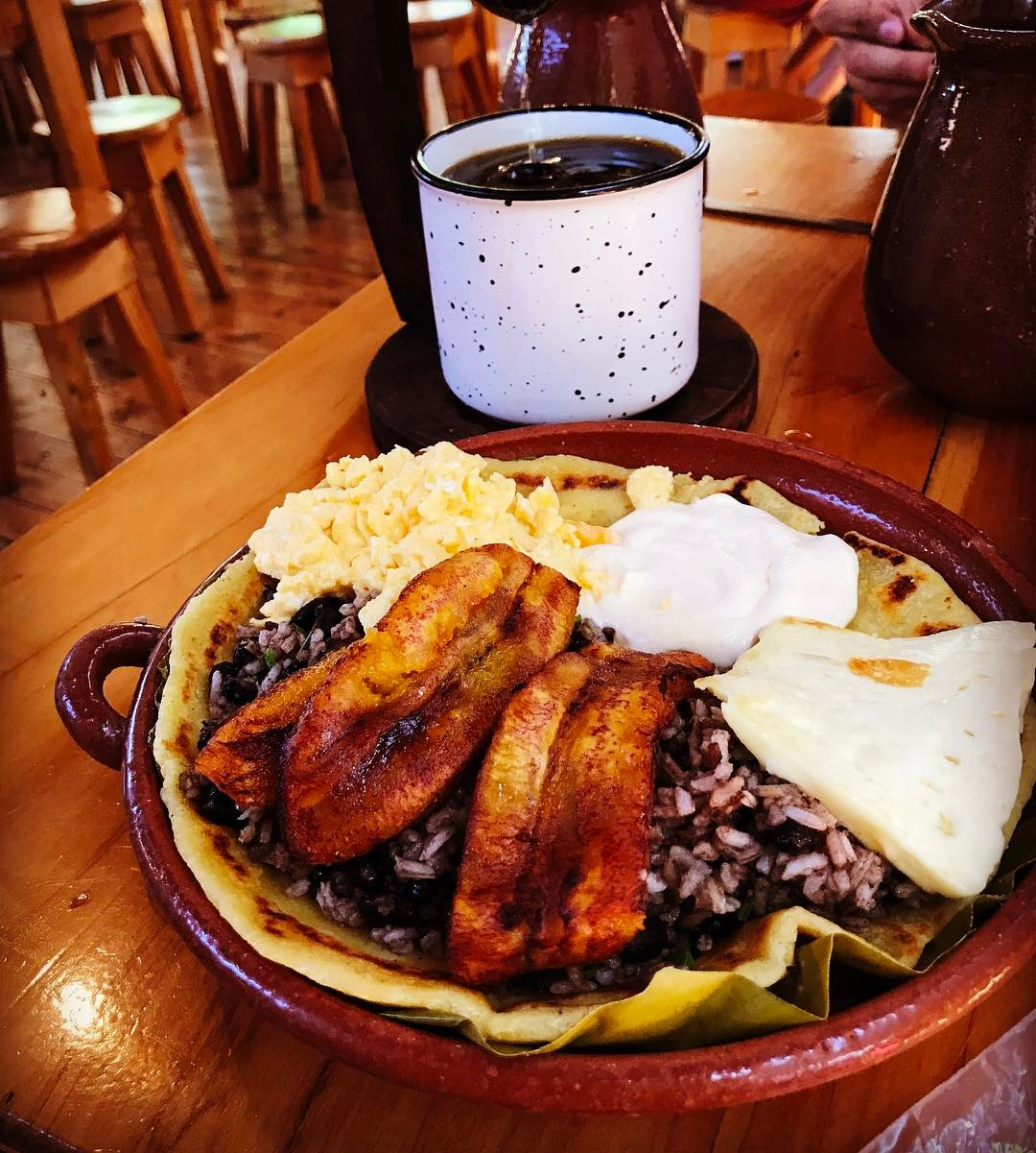 This is breakfast in Costa Rica    hellip